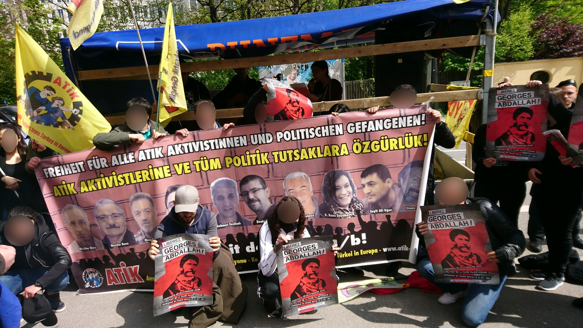 Manifestation de solidarité avec les prisonniers de l'ATIK