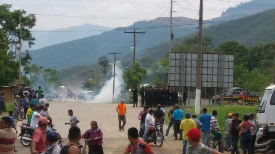 Les affrontements samedi à Izabal