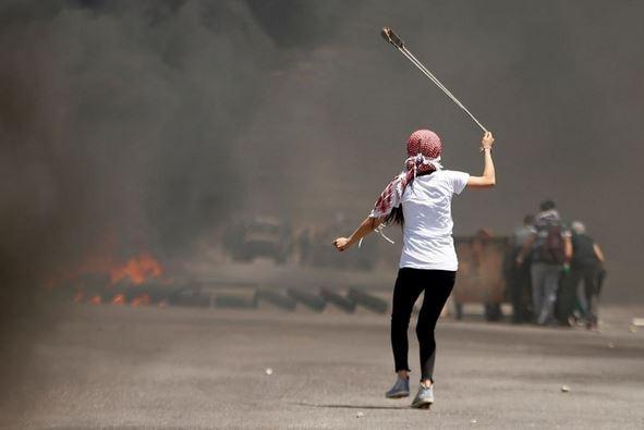Les affrontements hier à Ramallah