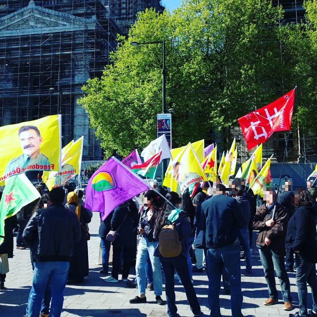 Manifestation contre la répression du mouvement kurde