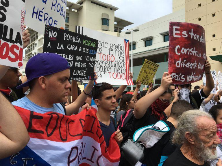 La manifestation à  San Juan