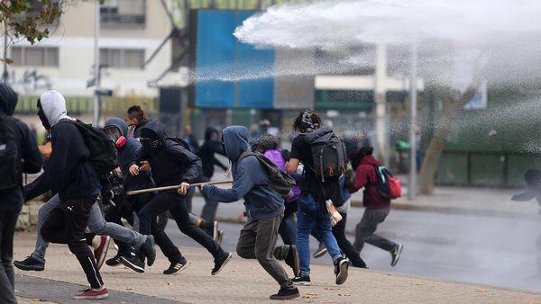 Les incidents d'hier à Santiago