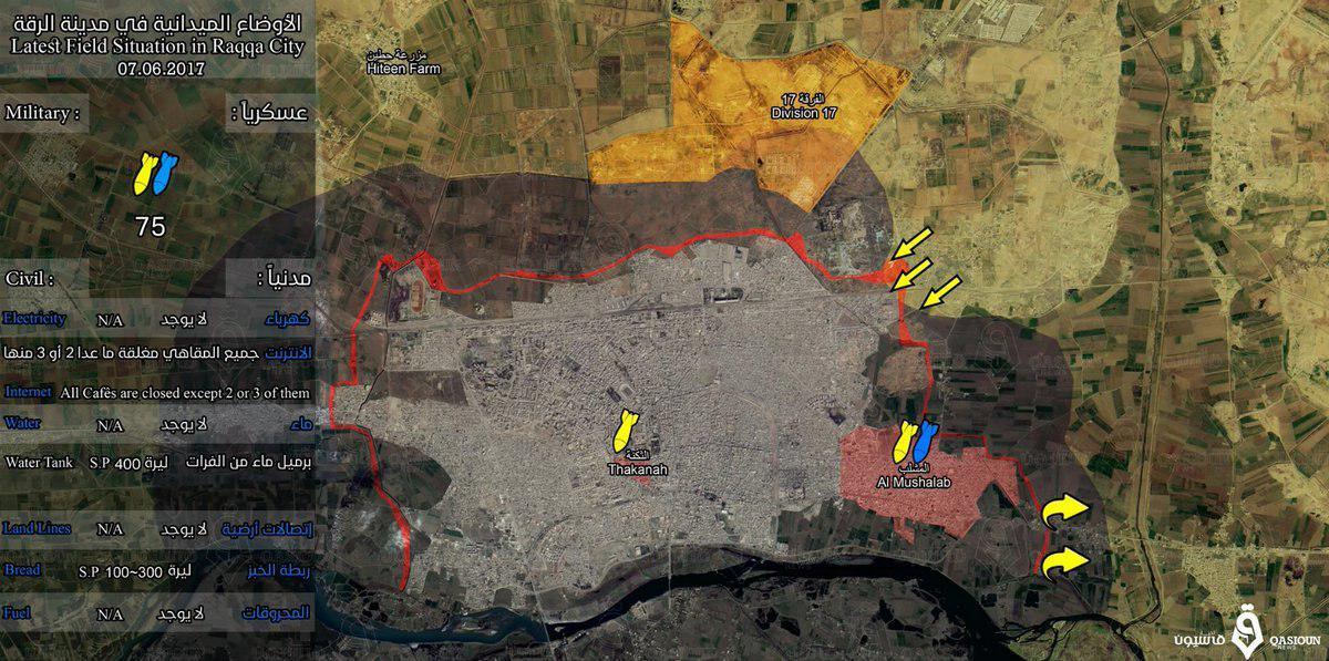 Situation à Raqqa ce 8 juin