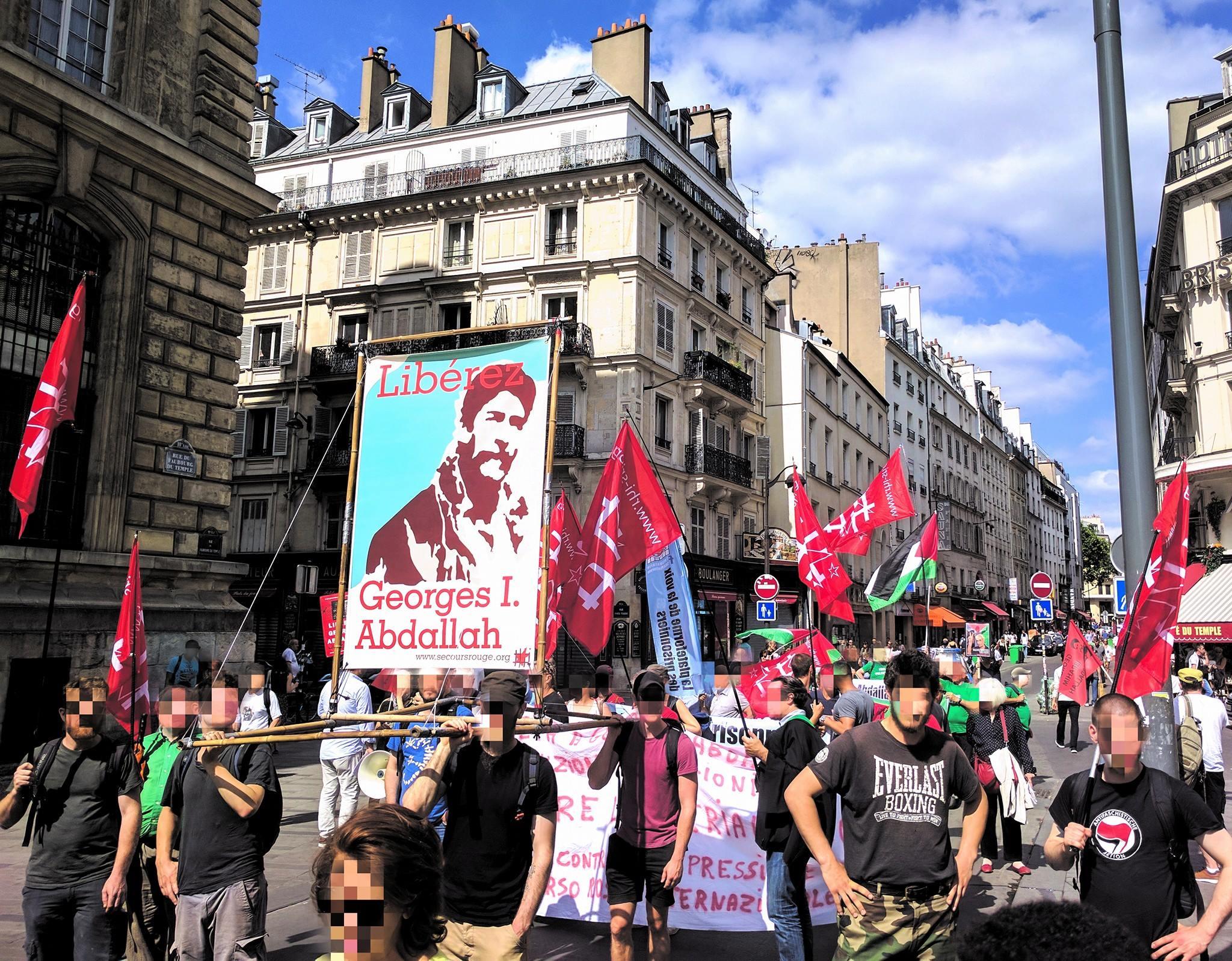 Grosse délégation de Bruxelles à la manifestation pour Georges Abdallah