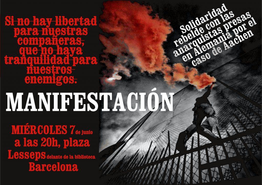 L'affiche de la mobilisation solidaire à Barcelone