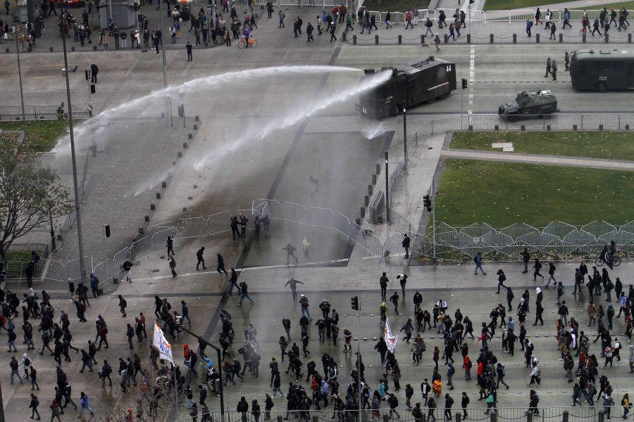 Les affrontements de mercredi à Santiago