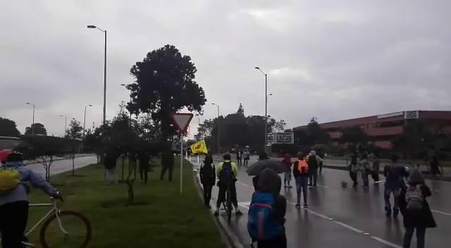 Les incidents sur la 26e rue, à Bogota