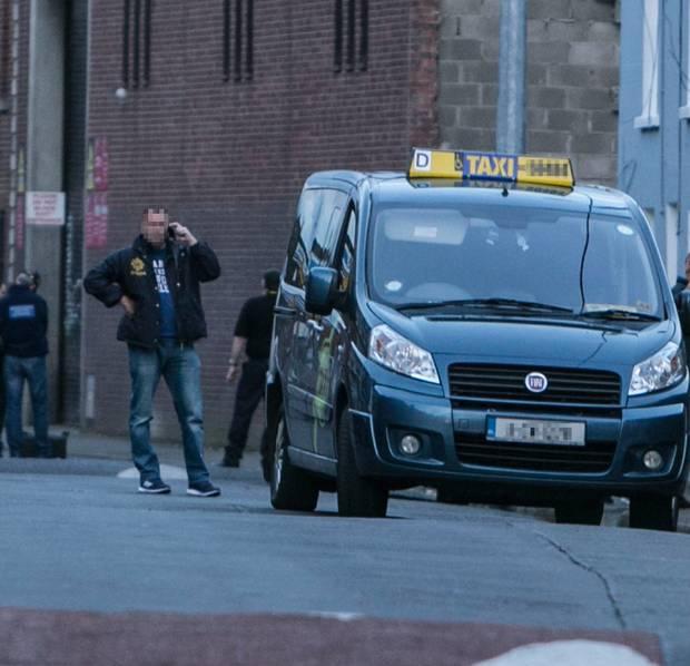 Le taxi dans lequel circulaient les membres présumés de la New IRA