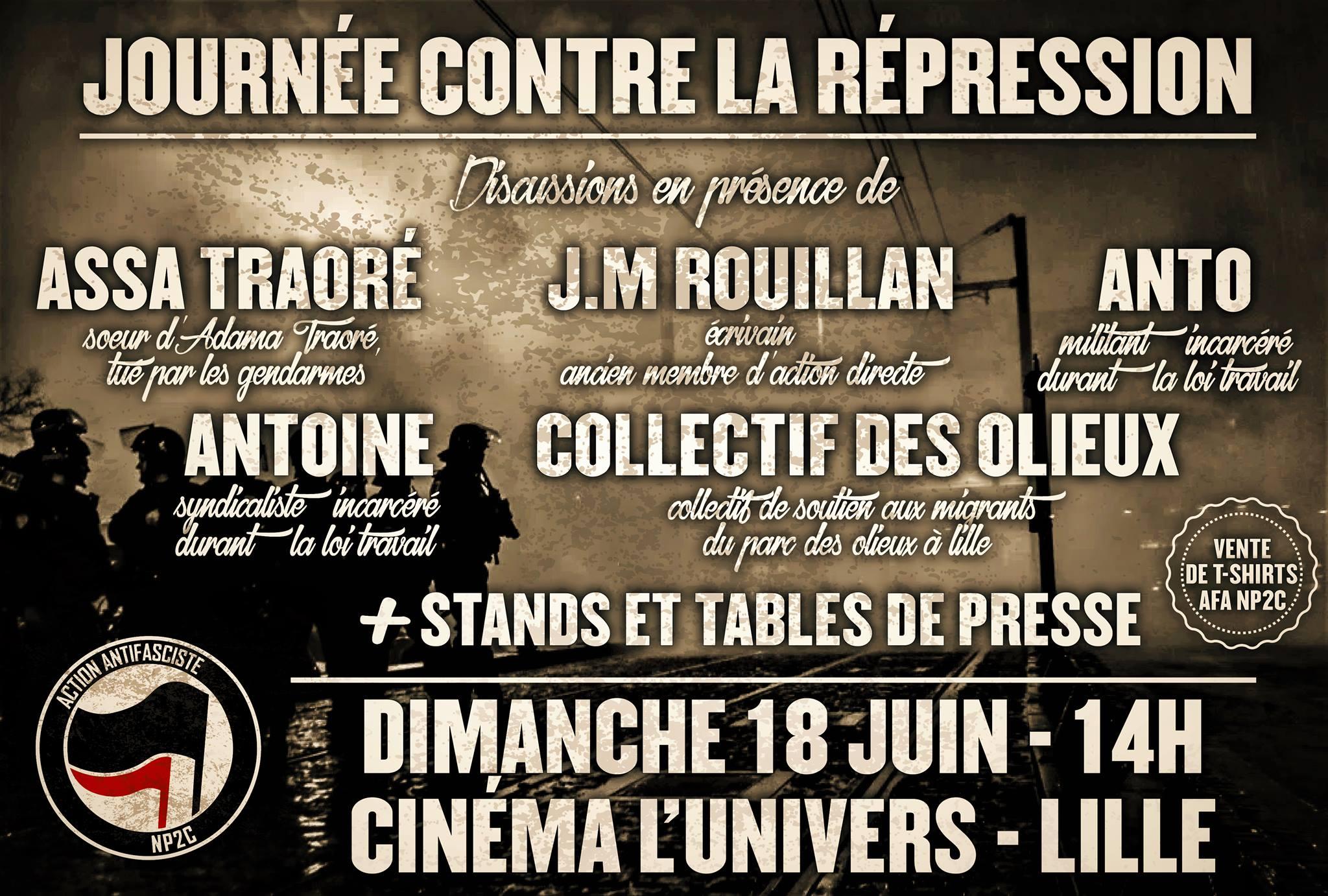 Journée contre la répression ce 18 juin
