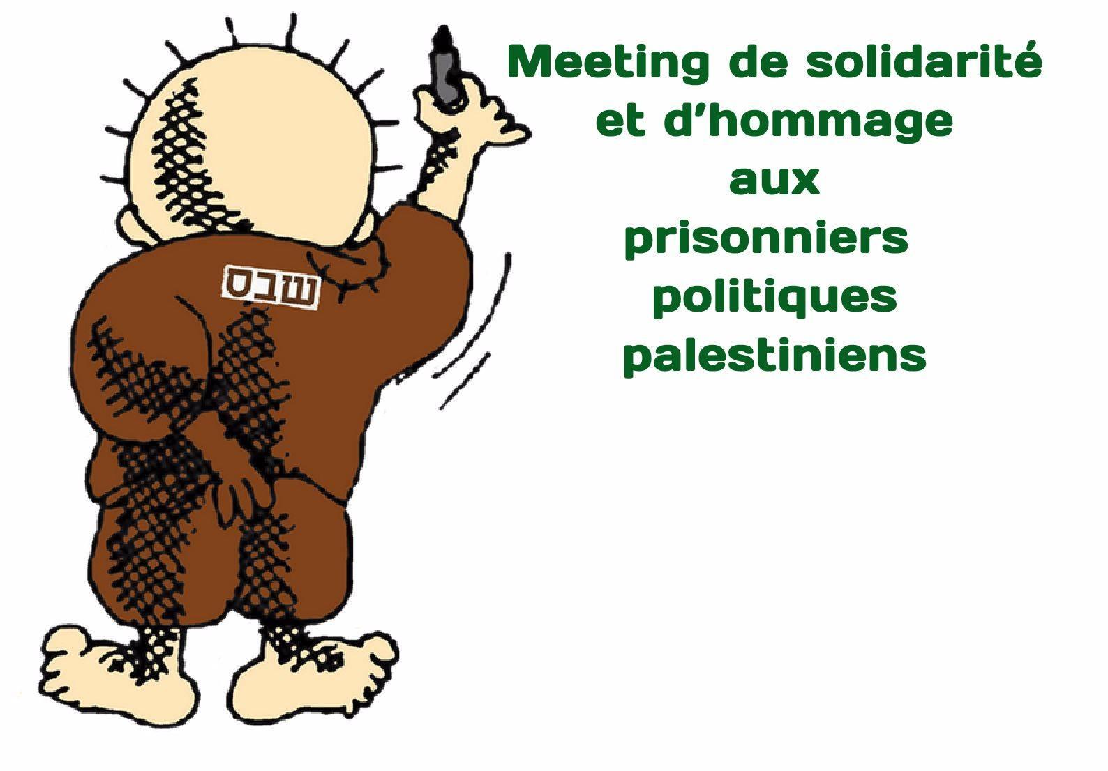 Meeting de solidarité et d'hommage aux prisonniers politiques palestiniens