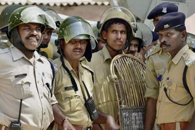Policiers de la force du Chhattisgarh
