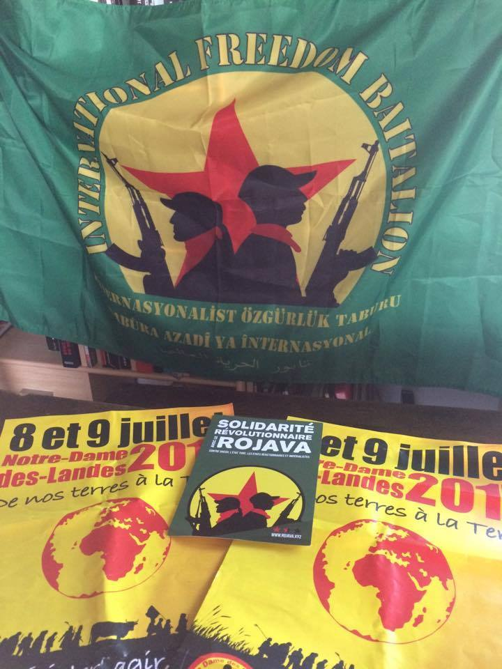 Apéro de soutien au Bataillon International du Rojava