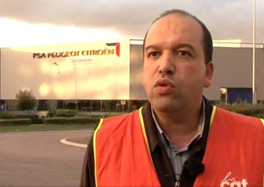 Farid Borsali, secrétaire de la CGT de PSA Poissy