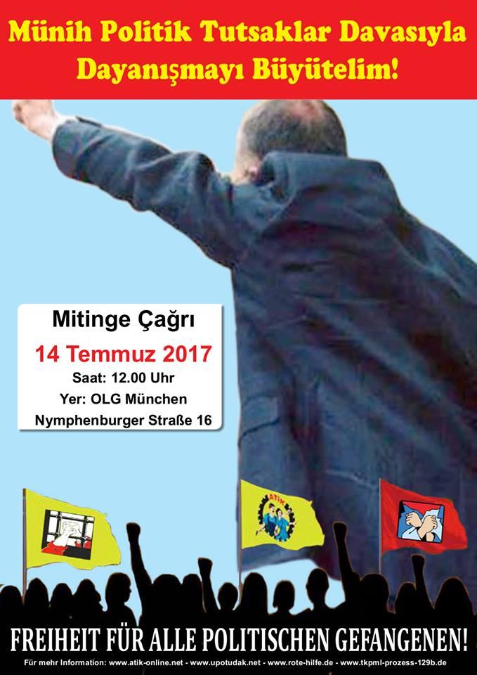 Affiche pour exiger la libération des prisonniers de l'ATIK