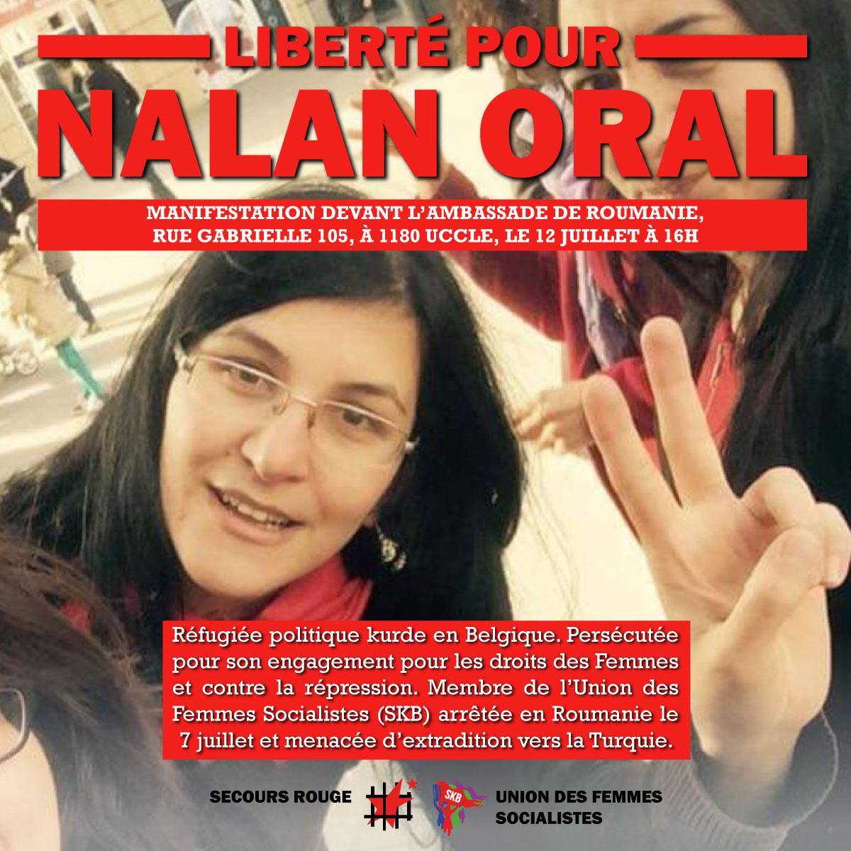 Liberté pour Nalan Oral !