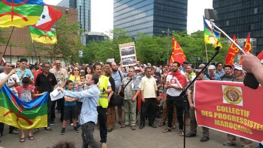 Manifestation à Bruxelles en soutien au mouvement populaire rifain