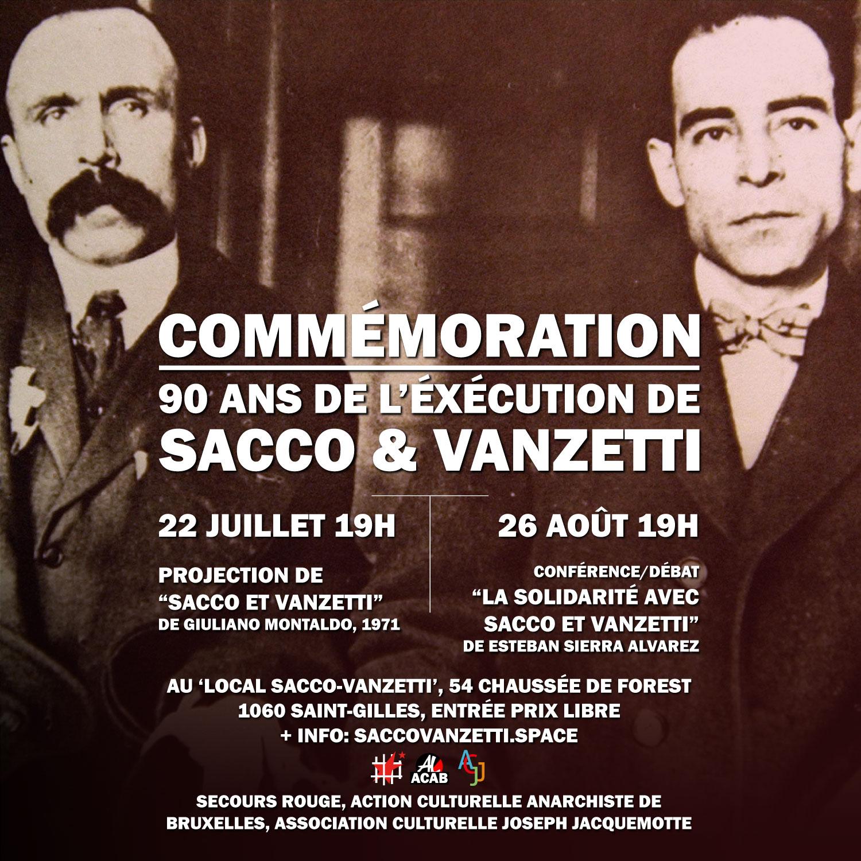 Commémorations pour les 90 ans de l'exécution de Sacco et Vanzetti