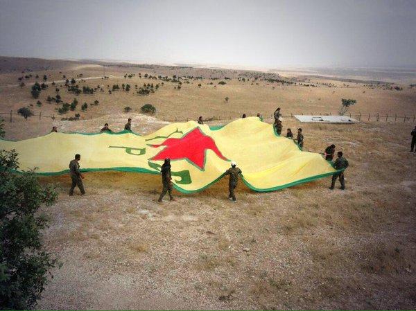 Drapeau des YPG