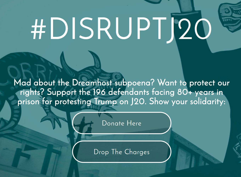 Appel à la solidarité avec les prisonniers du J20 (archive)