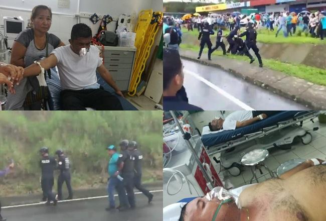 Manifestation d'enseignants réprimées au Panama