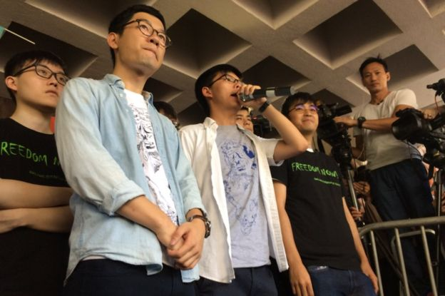 Nathan Law, Joshua Wong et Alex Chow