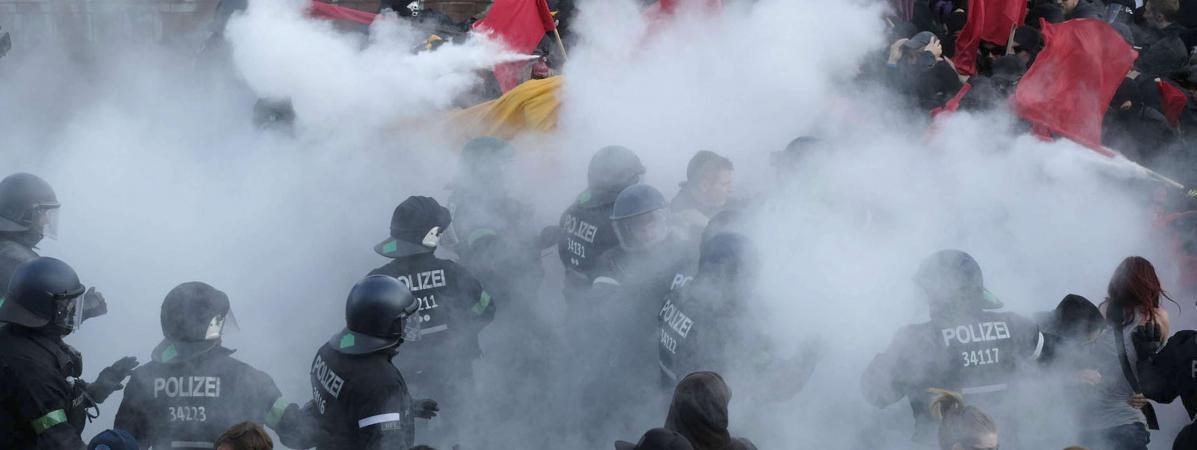 Les affrontements à Hambourg