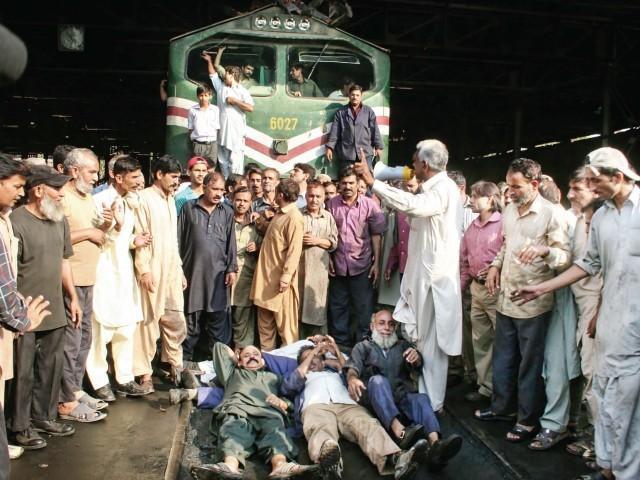 Grève des travailleurs des chemins de fer pakistanais (archive)
