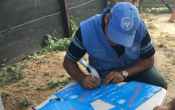 Agent de l'ONU pour le désarmement des FARC en Colombie