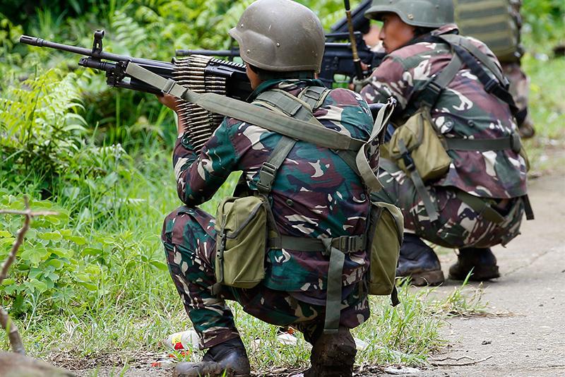 Opération anti-guérilla à Marawi