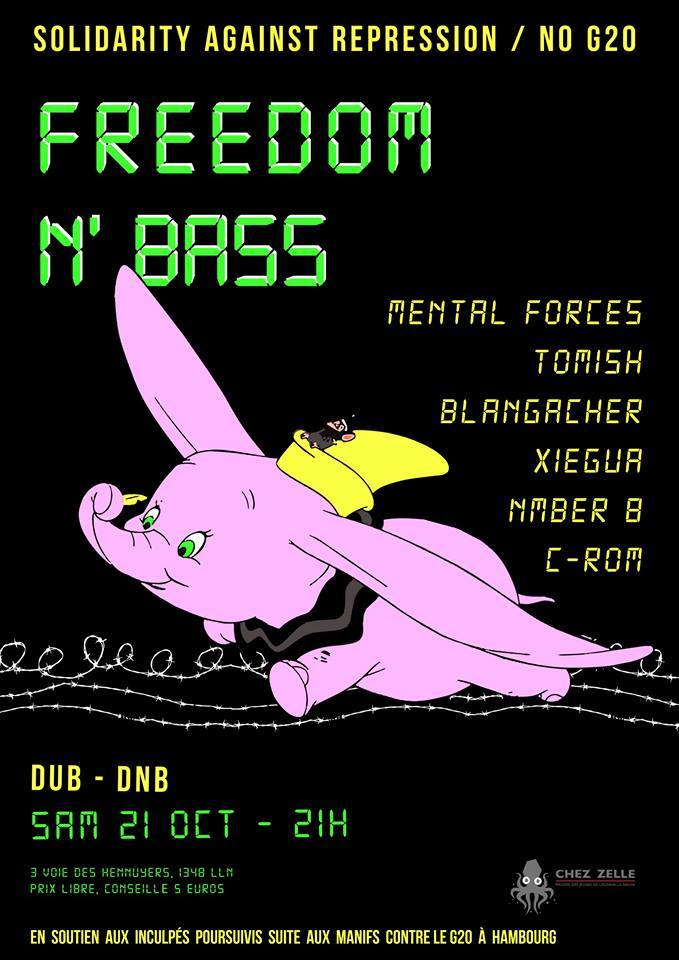 Freedom 'n Bass en solidarité avec les inculpés du G20.