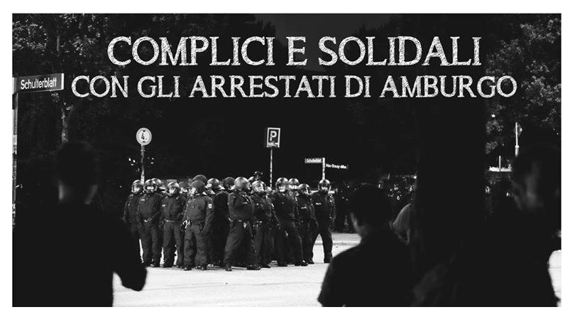Complicité et solidarité avec les prisonniers d'Hambourg