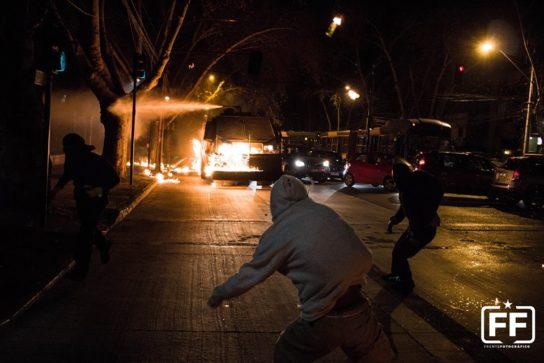 Affrontements à Santiago