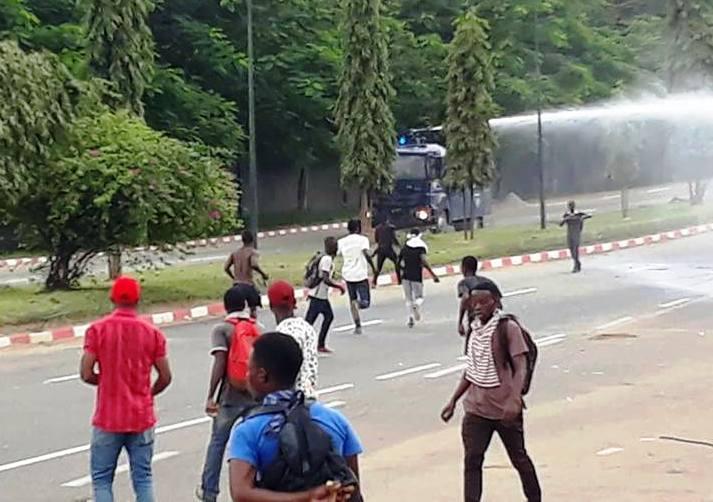 Manifestation d'étudiants à Abidjan