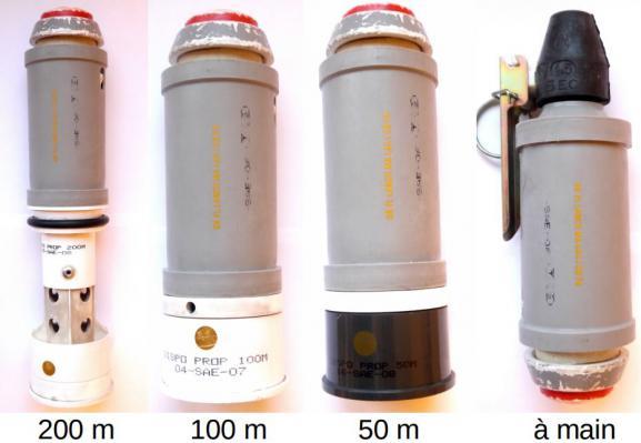 Les grenades assourdissantes en usage dans la polie française