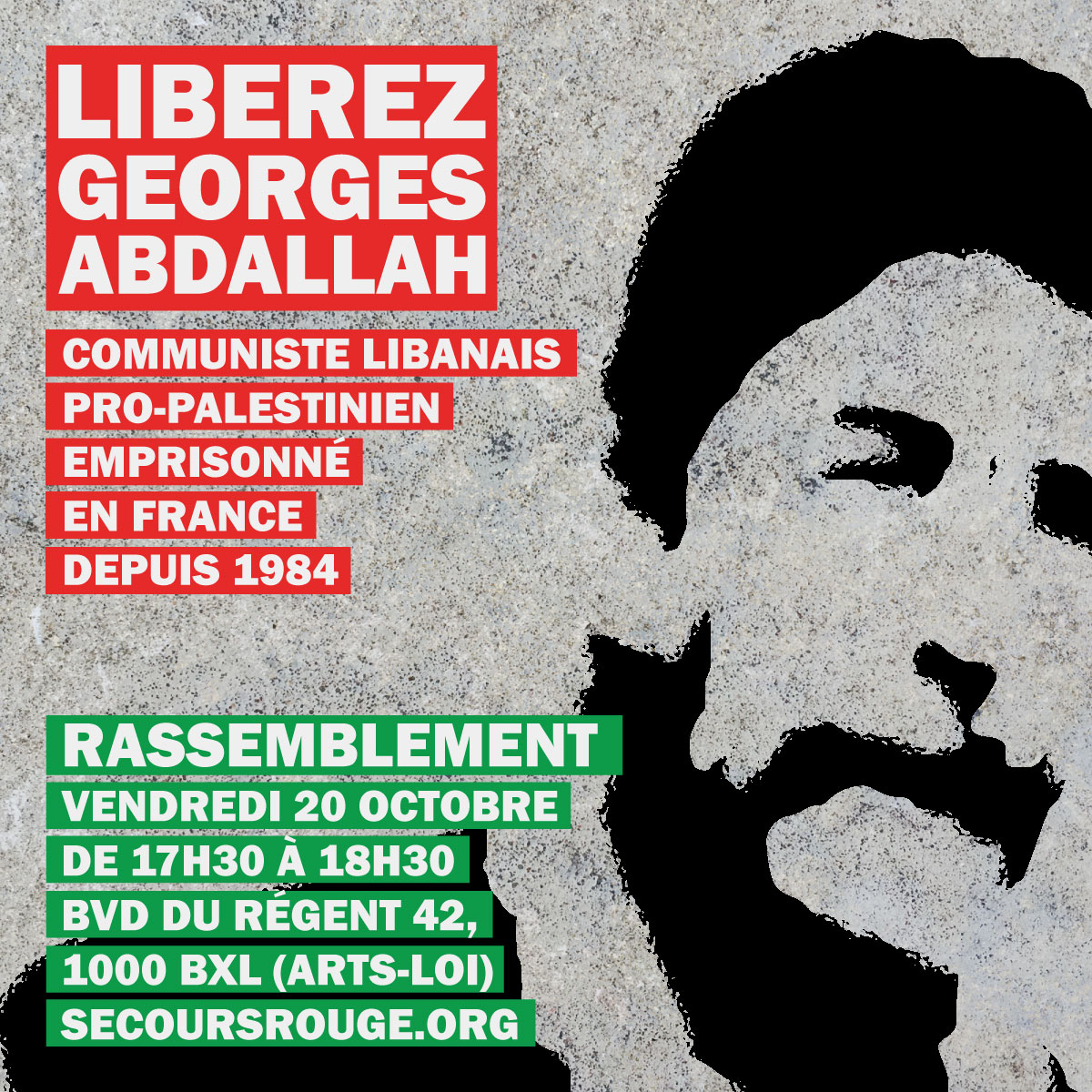 Manifestation pour Georges Abdallah ce 20 octobre