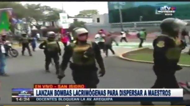 Affrontements avant-hier à Lima
