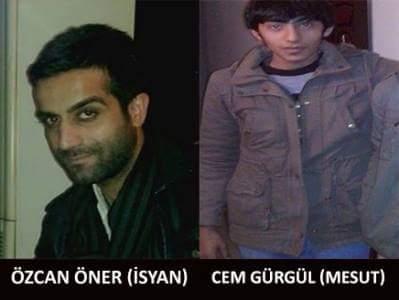 Les deux guérilleros tués, Özcan Öner et Cem Gürgül.