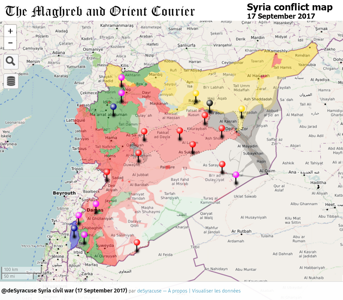 Situation en Syrie au 17 septembre 2017