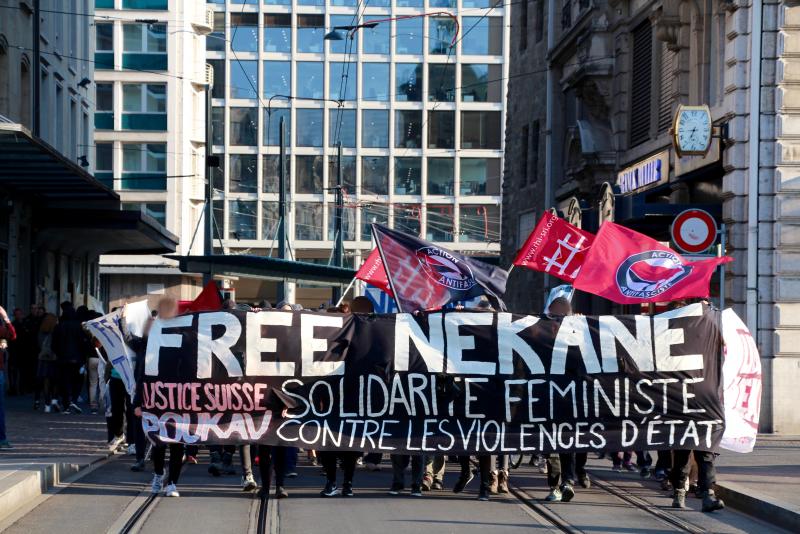 Manifestation pour Nekane à Genève (archive)