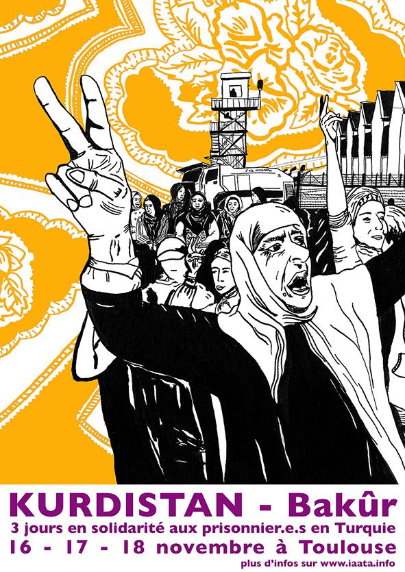 Toulouse : Journées de solidarité avec les prisonnièr.e.s en Turquie du 16 au 18 novembre
