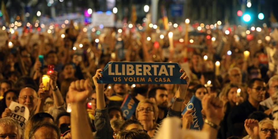 Le rassemblement d'hier à Barcelone
