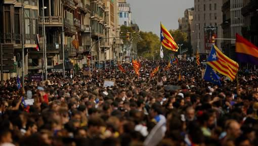 La manifestation à Barcelone