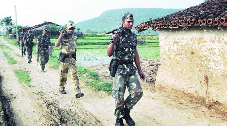 Soldats de la CRPF en opération dans le Chhattisgarh