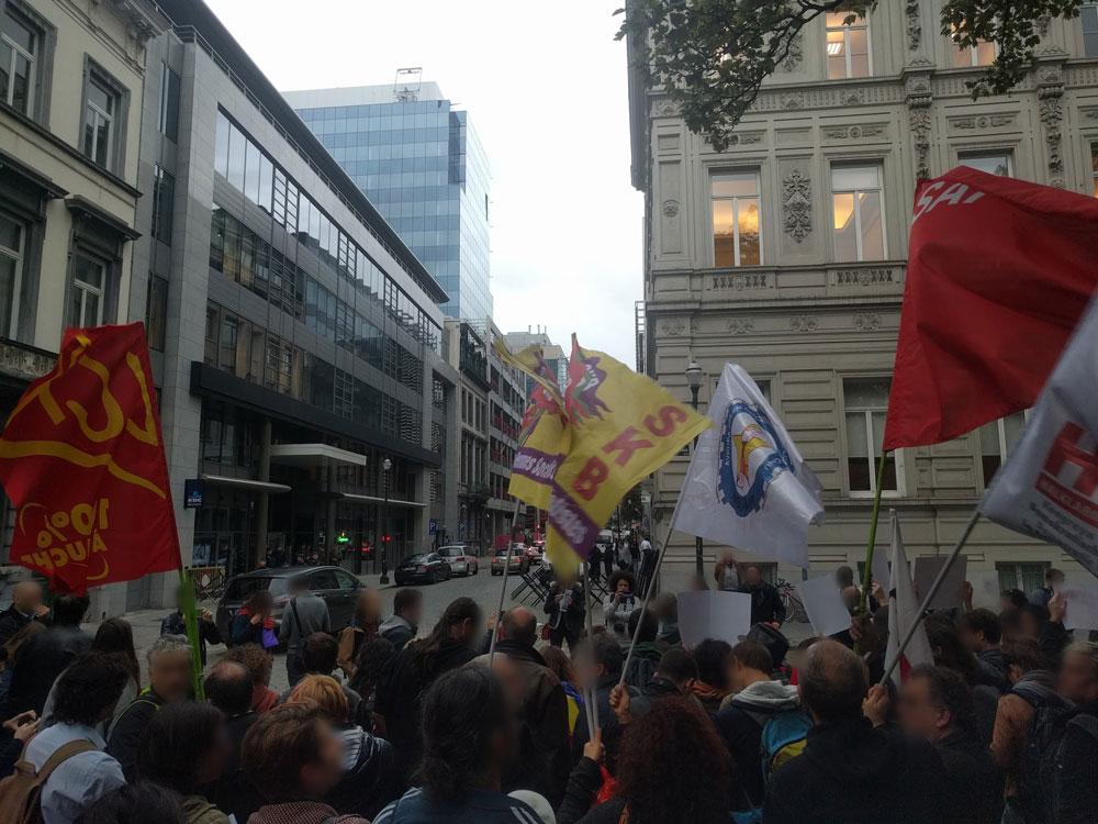 Manifestation de solidarité avec le peuple catalan