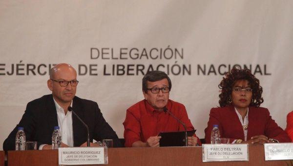 La délégation de l'ELN aux négociations de Quito (archive)