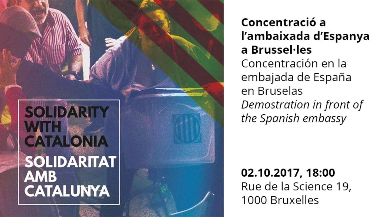 Rassemblement en solidarité avec la Catalogne
