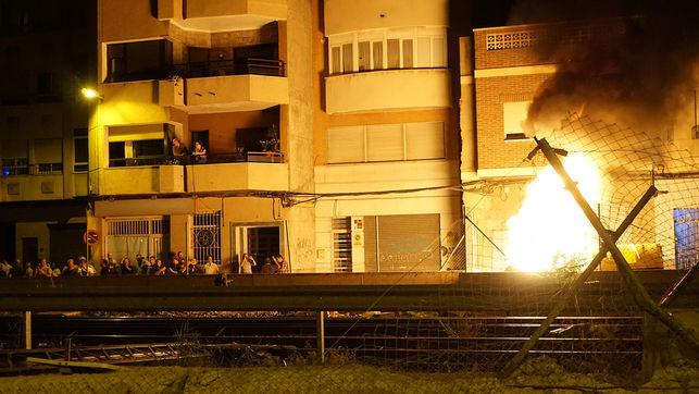 Incendie d'un container du chantier de l'AVE