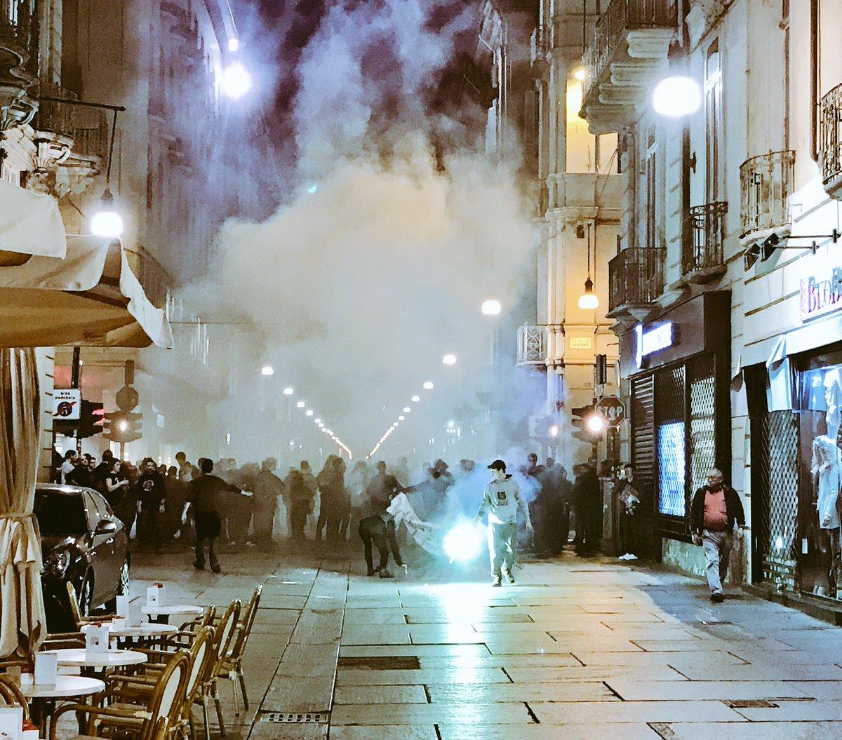 Les affrontements à Turin