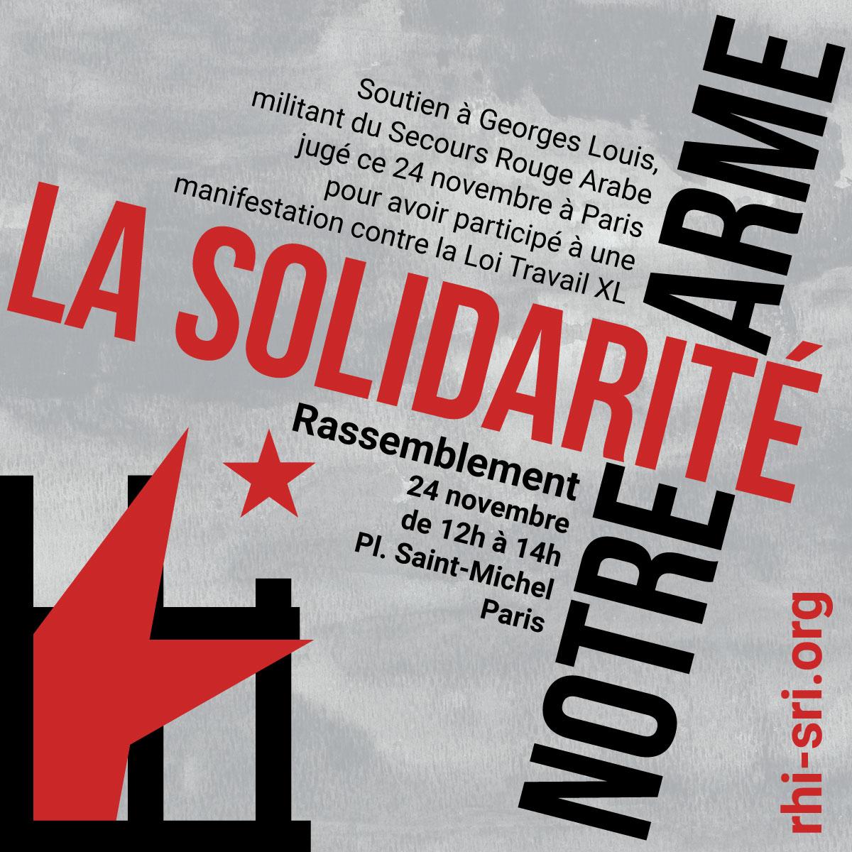 Solidarité avec Georges Louis