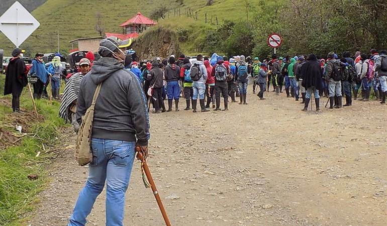 Manifestation autochtone dans le Cauca